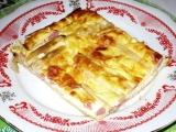Chřestový koláč se salámem recept