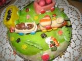 Oříškový dort s mašinkou recept