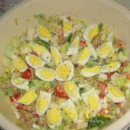 Lehký salát s kuřecím a krůtím masem recept