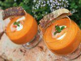 Studená polévka z pečených rajčat s lososem recept