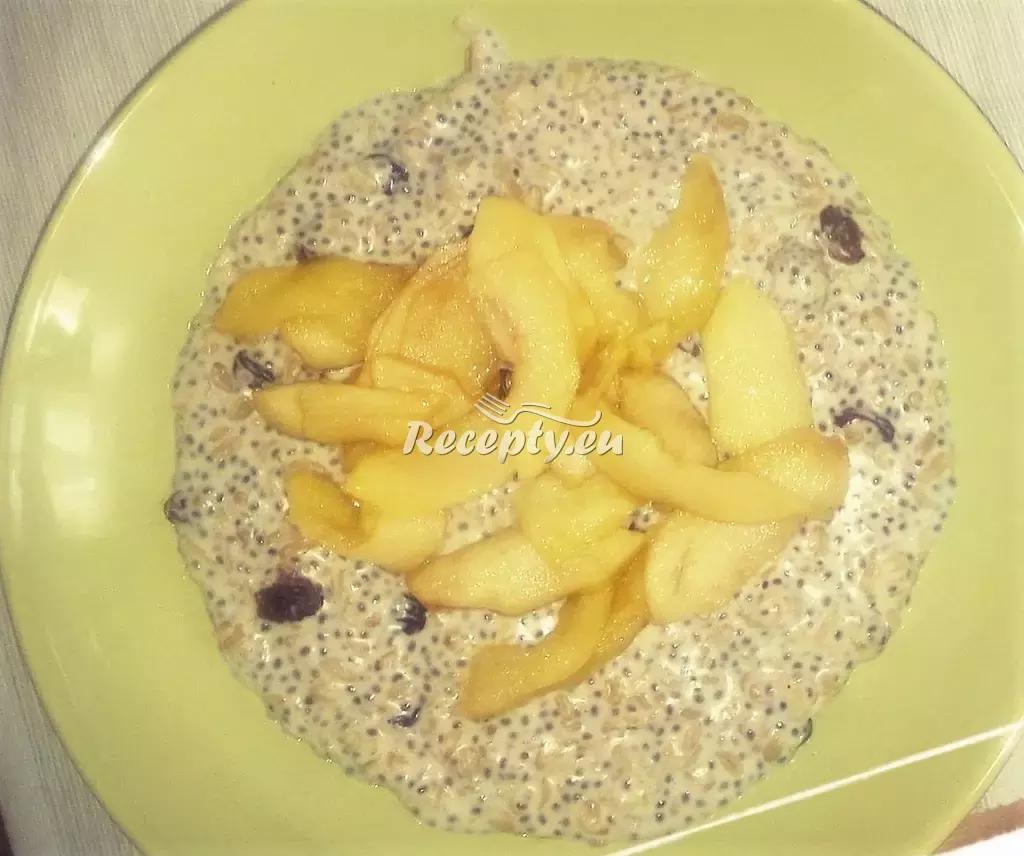 Ovesná kaše se sušenými švestkami recept  předkrmy, snídaně ...