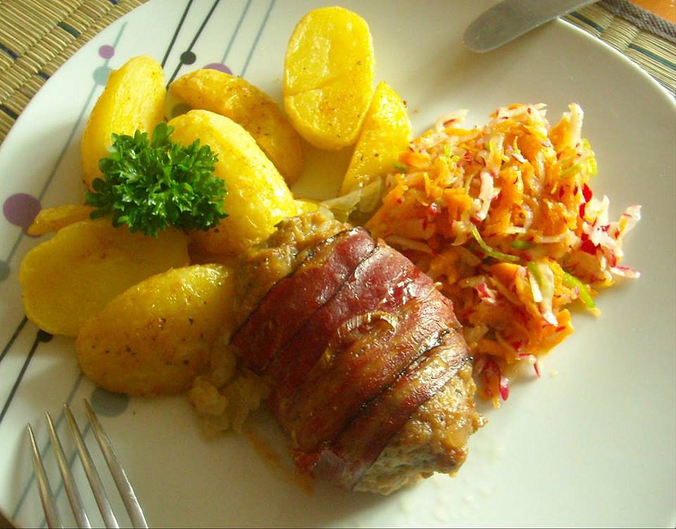 Sekaná ve slanině recept