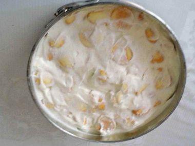 Šlehačkový dort s piškoty  nepečený