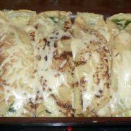Palačinky se smetanou, špenátem a kuřecím masem recept