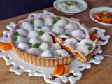 Meruňkový koláč s marcipánem a pistáciemi recept