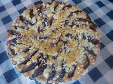Rychlý chatařský švestkový koláč