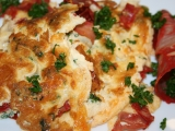Omeleta s chorizem a petrželkou recept