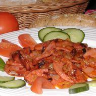 Opečený salám s kečupem recept