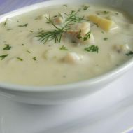 Krémová polévka s treskou a bylinkami recept