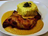Dušená kuřecí stehna na víně recept