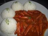 Čertova omáčka s rýží recept