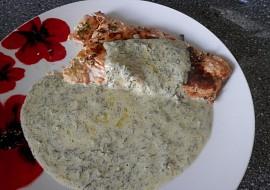 Losos na másle s koprovou omáčkou recept