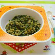 Baby špenát s červenou čočkou pro nejmenší děti recept