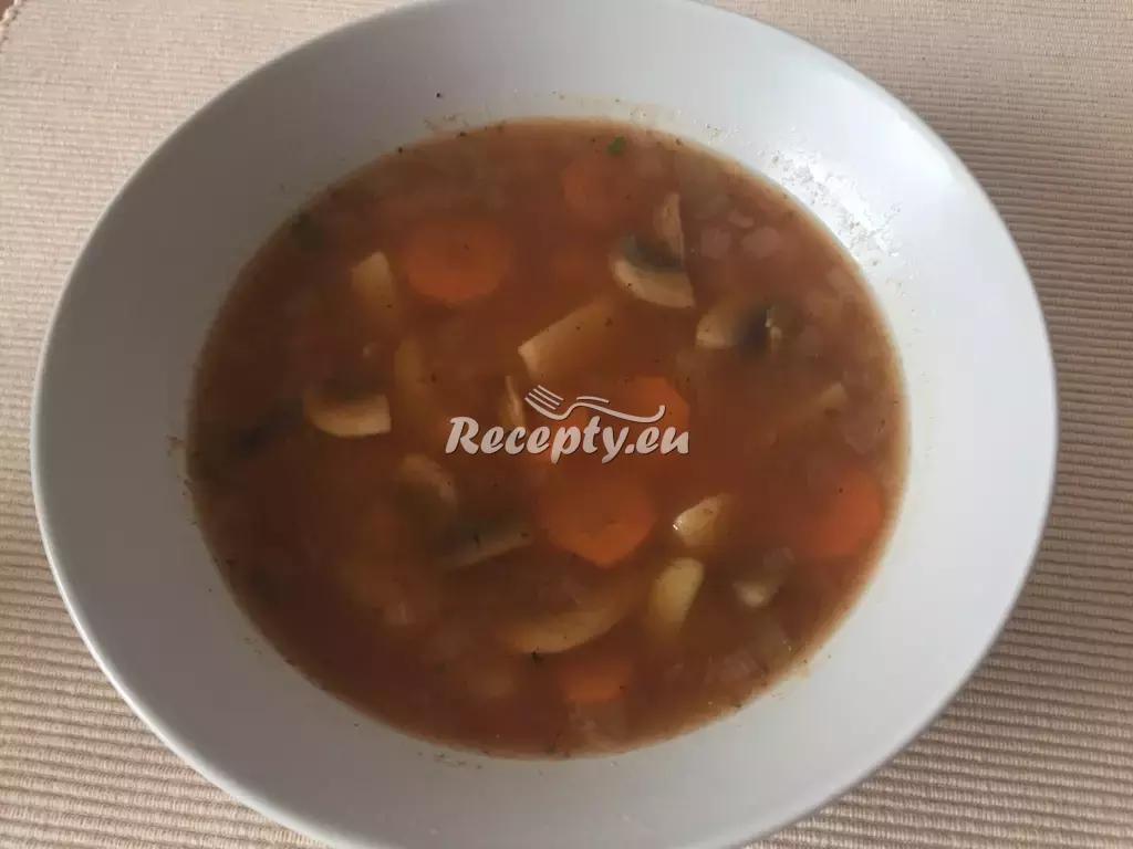 Gulášové polévka se zeleninou recept  polévky