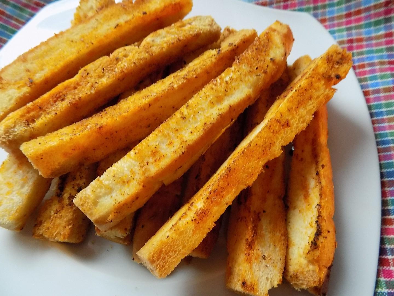 Česnekové tyčky z rohlíků recept