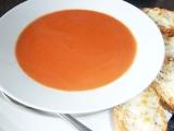 Rajská polévka se sýrovými bagetami recept