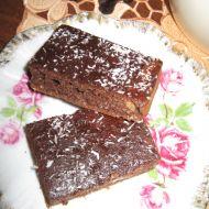 Lehké kakaové řezy s kokosem a hořkou čokoládou recept
