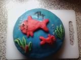 Modrý dort recept