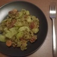 Čočkový vegetariánský salát recept