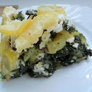 Zapékané brambory se špenátem a balkánským sýrem recept ...