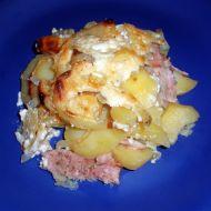 Smetanové brambory zapečené s kuřecím masem recept
