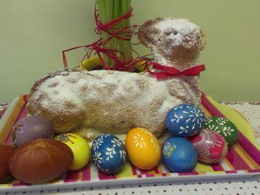 Velikonoční beránek s čokoládou