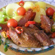 Marinovaný krůtí steak s klobásou recept