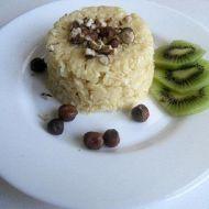 Rýžové vločky s liči na sójovém mléce recept