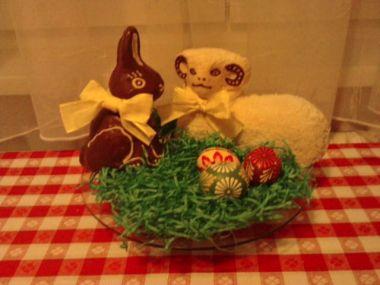 Velikonoční šlehačkový beránek a jeho kamarádi