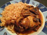 Kuře na sušených houbách a víně recept
