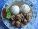 Krůtí maso na žampiónech a bazalková rýže. recept
