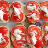 Večky s rajčaty recept