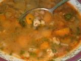 Fazolová polévka se zeleninou a strouháním recept