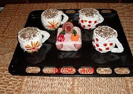 Slaný dort  kafe s mini dortem recept