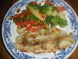 Pangas se zeleninou a hranolkami recept
