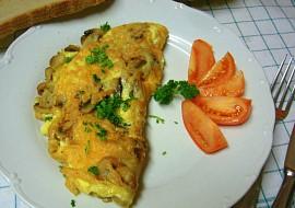 Rychlá vaječná omeleta se žampiony recept