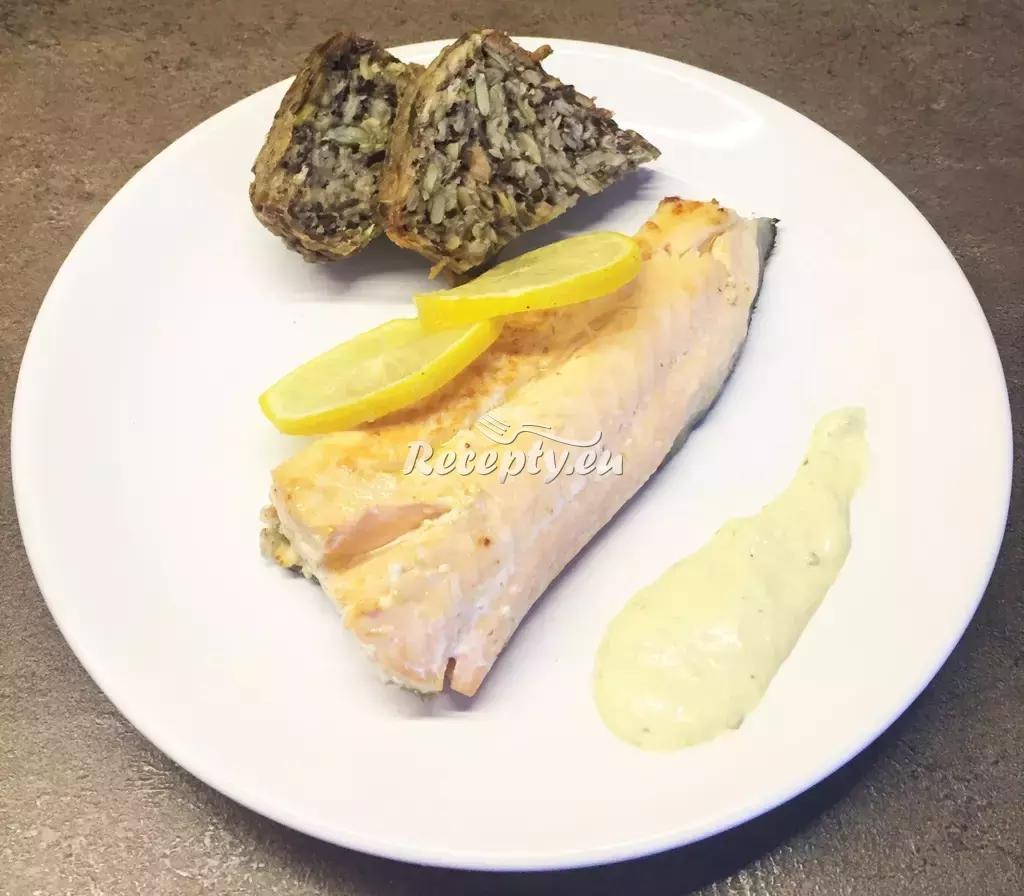 Losos s koriandrovou omáčkou recept  ryby