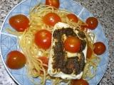 Přírodní šmakoun zapečený se špagetami v MW recept ...