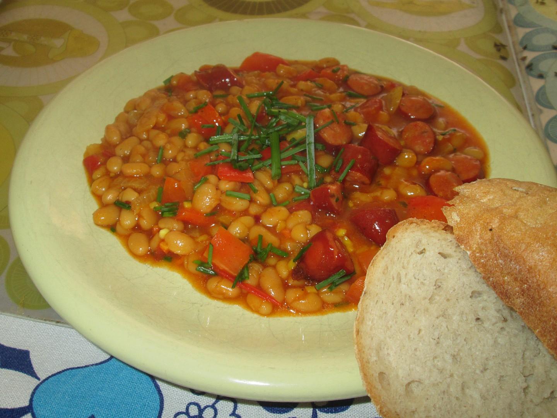 Pálivý fazolový kotlík recept