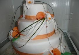 Svatební dort  můj první recept