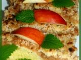 Jablečný koláč s tvarohovým těstem a vaječným koňakem recept ...