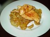Kuřecí plátek a bramborové dukátky recept