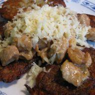 Masová směs s bramboráčky recept