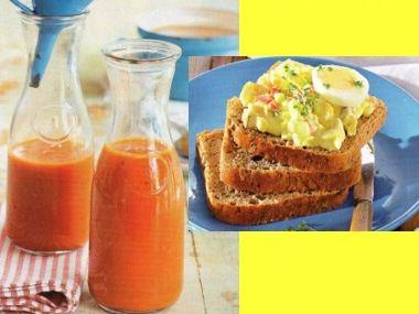 Vajíčková pomazánka a domácí kečup