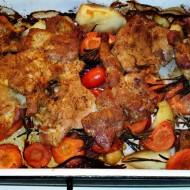 Marinovaná krkovička na zeleninovém lůžku recept