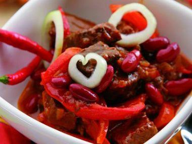Recept Mexický guláš s fazolemi