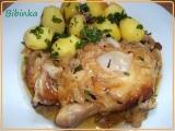 Máslové kuřátko na česneku, cibuli a rozmarýnu recept ...