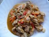 Vepřové nudličky se zeleninou recept