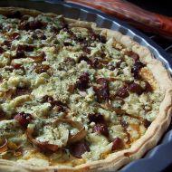 Slaný koláč s uzeným lososem recept