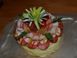 Slaný narozeninový dortík recept